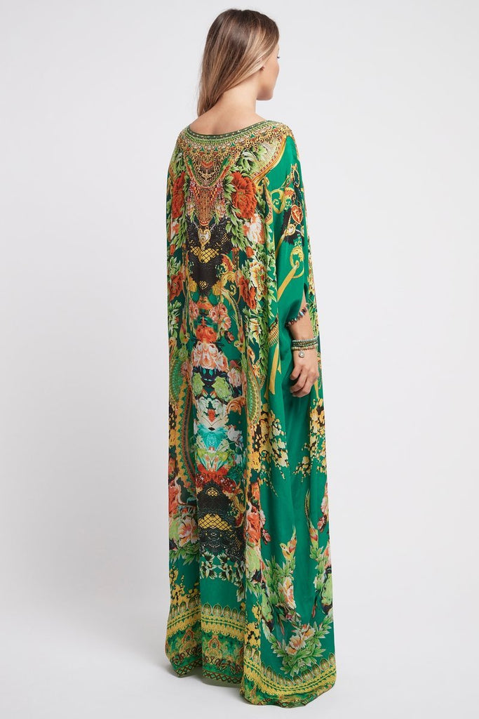 Make It Happen Round-Neck Long Kaftan - Czarina