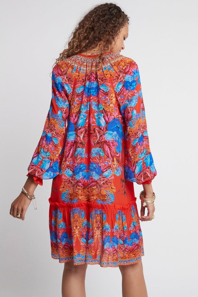 POWER OF LOVE - SHORT DRESS W FAUX BELL SLEEVE - Czarina