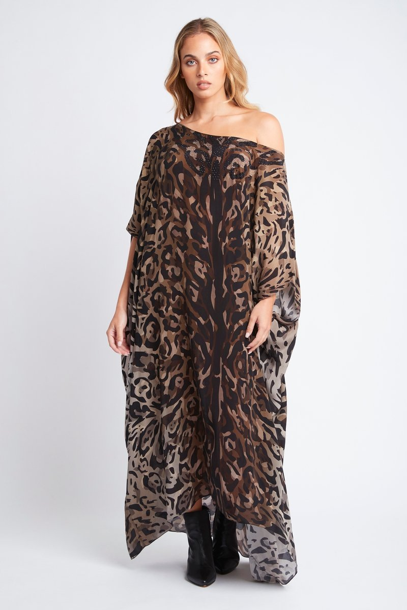 QUEEN OF THE TRIBE ROUND NECK LONG KAFTAN - Czarina