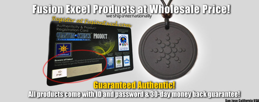 Fusion excel wholesale 50 off fusion excel products fusion authentic vs fake quantum pendants mozeypictures Gallery
