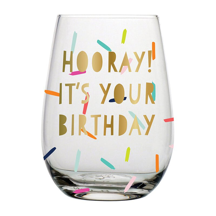 Hooray It's Your Birthday 20oz  Wine Glass