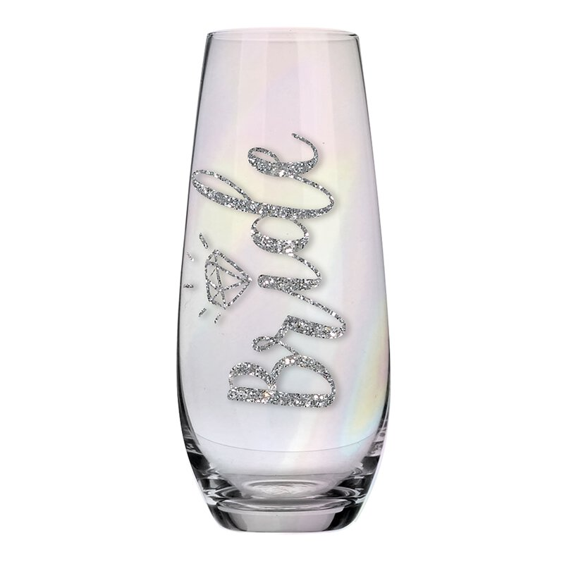 Stemless Champagne Glass for the Bride