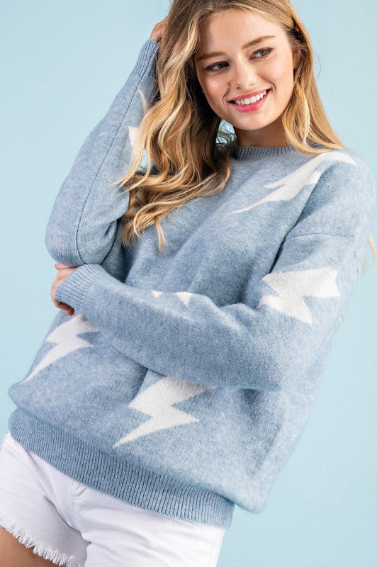 Thunder Bolt Knit Sweater