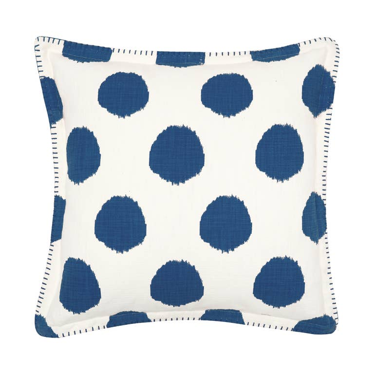 Dot Pillow with Whipstitch Edge