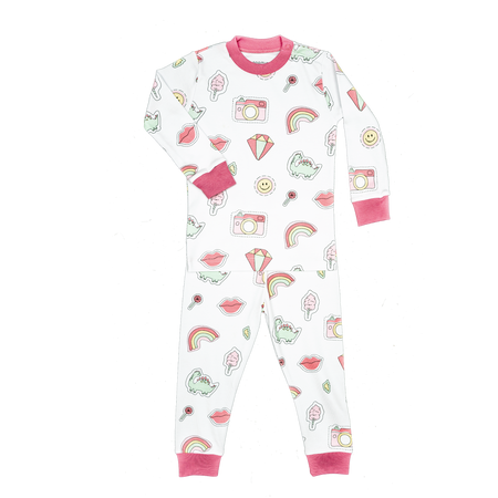 Pink Patches Two Piece PJ