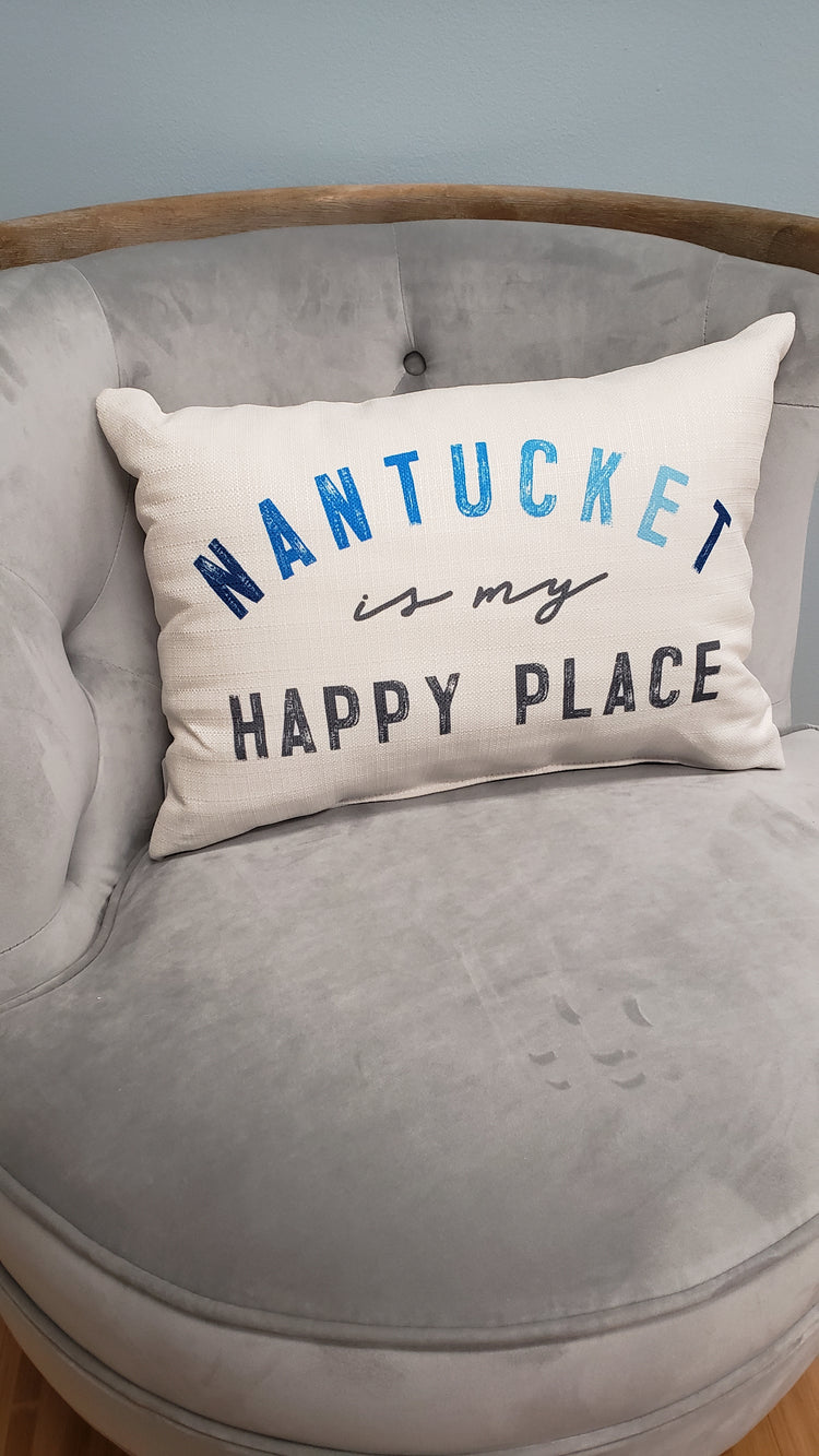 Happy Place Throw Pillows