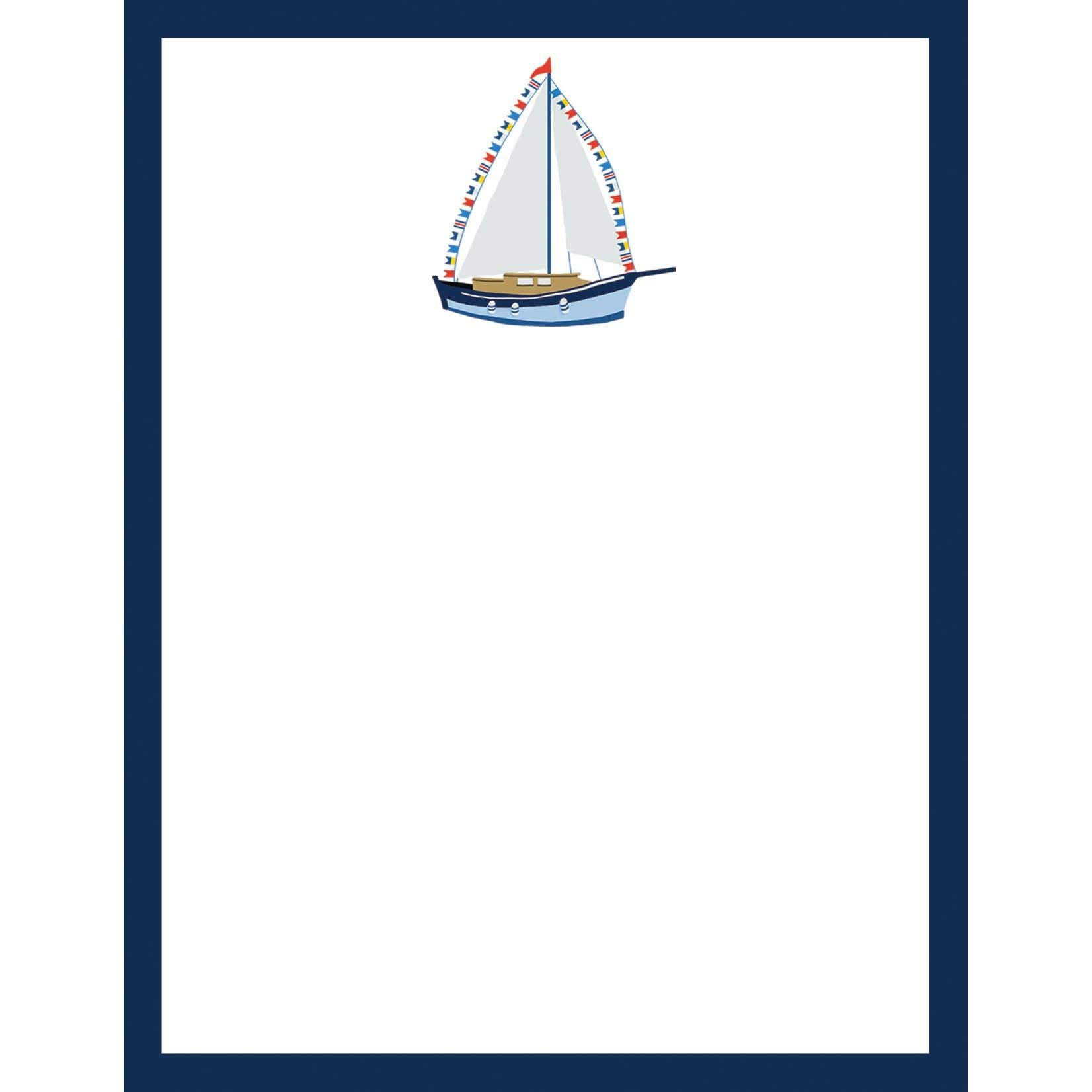 4.25 x 5.5 Sailboat Notepad