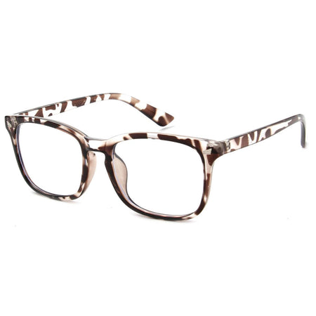Tortoise Shell Horn-Rimmed Frame Blue Light Blocker Glasses