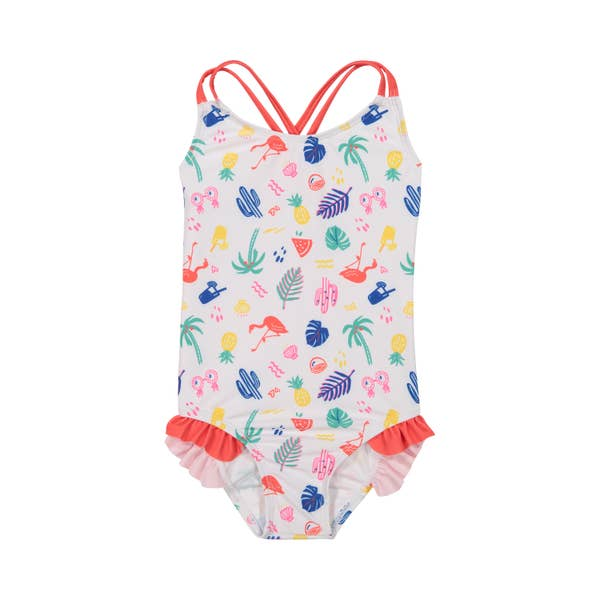 Girl's Ruffle Swimsuit