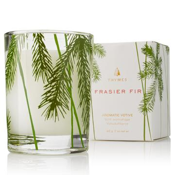 Frasier Fir Votive Candle Pine Needle Design