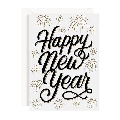 Happy New Year Fireworks Stationery Set of 8