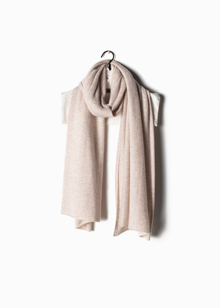 Pure Cashmere Travel Wrap in Beige