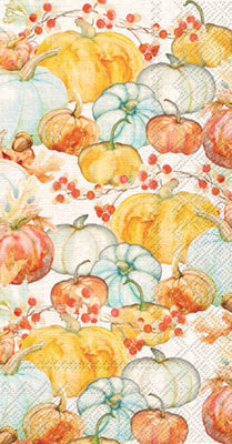 Watercolor Pumpkins Guest Towel