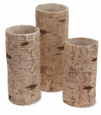Birch Pillar Candle Holder