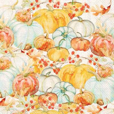 Watercolor Pumpkins Cocktail Napkins
