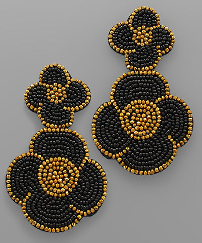 Beaded Blossom Earrings