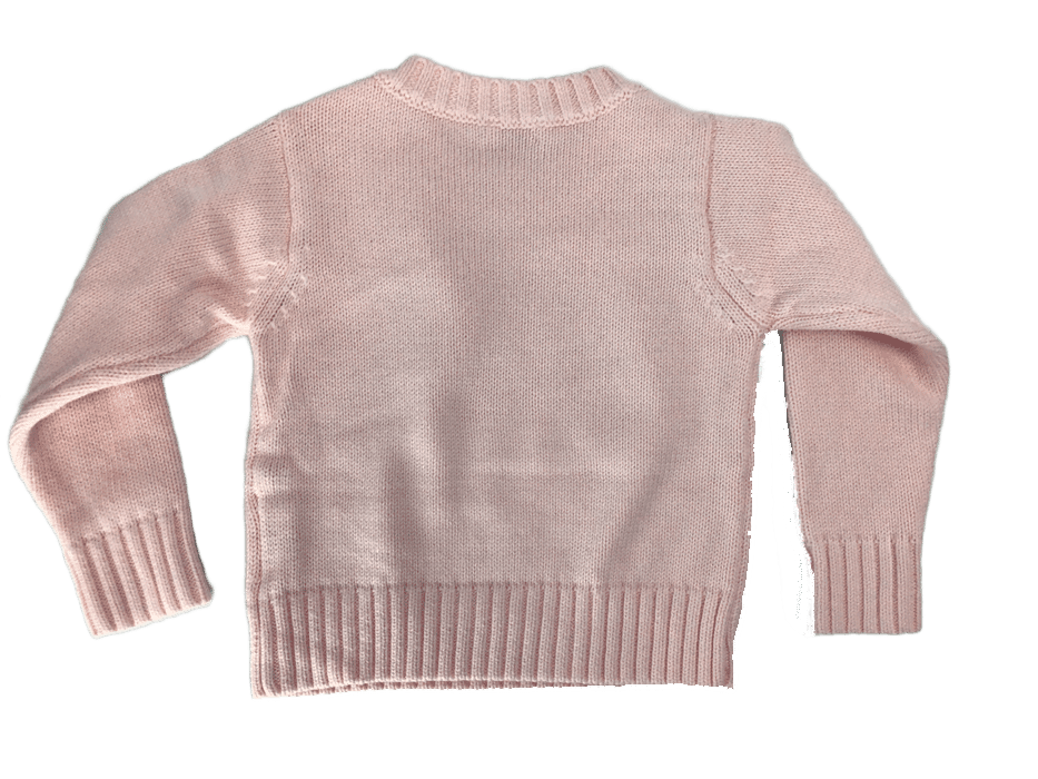 Little La La Solid Button Knit Sweater