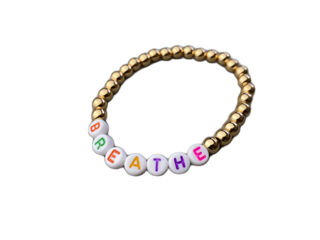 Breathe Gold Beaded Bracelet
