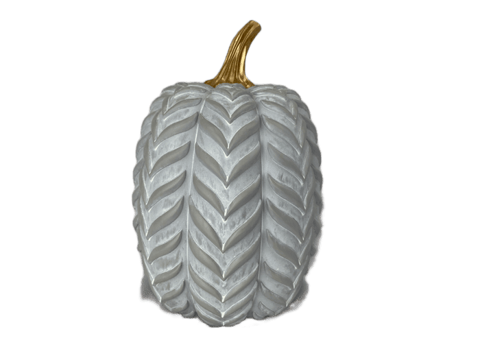 Grey Chevron Pumpkin