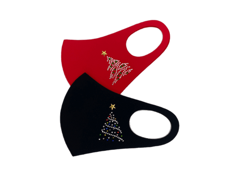 Christmas Tree Dazzle Facemask with Bling