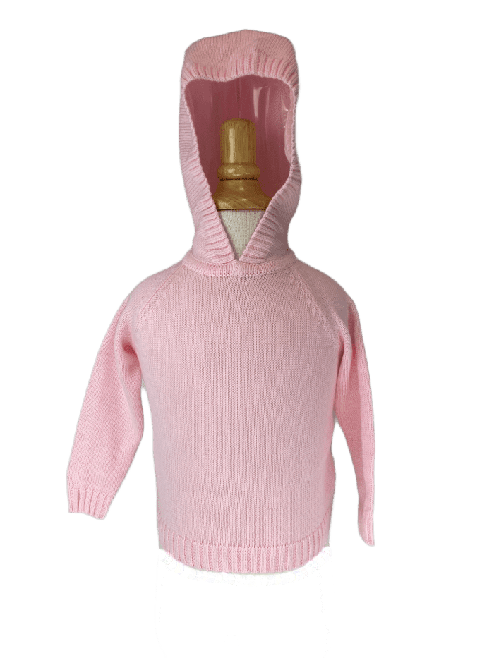 Little la la Cotton Knit Hooded Sweater