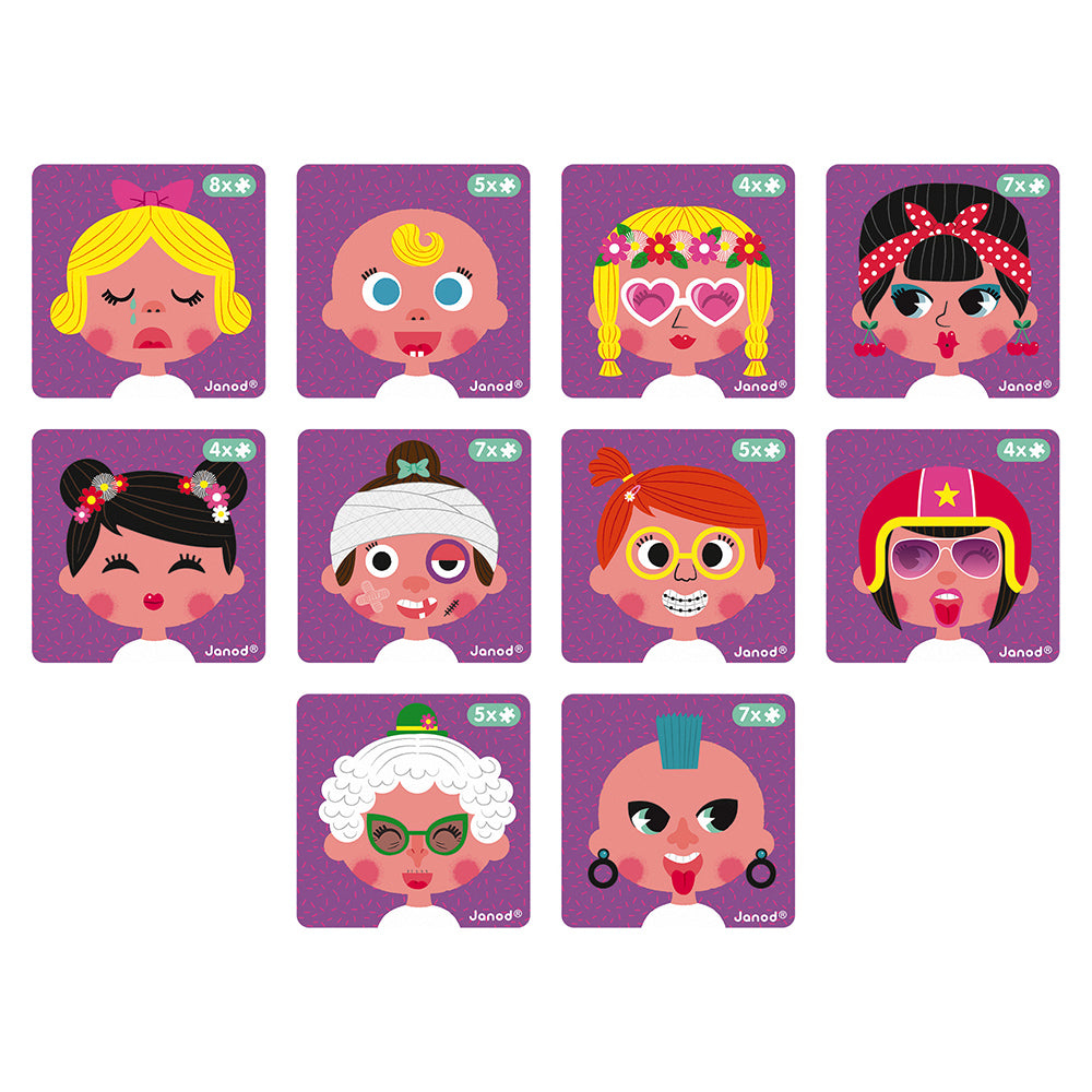 Girl Crazy Faces Magnetic Book