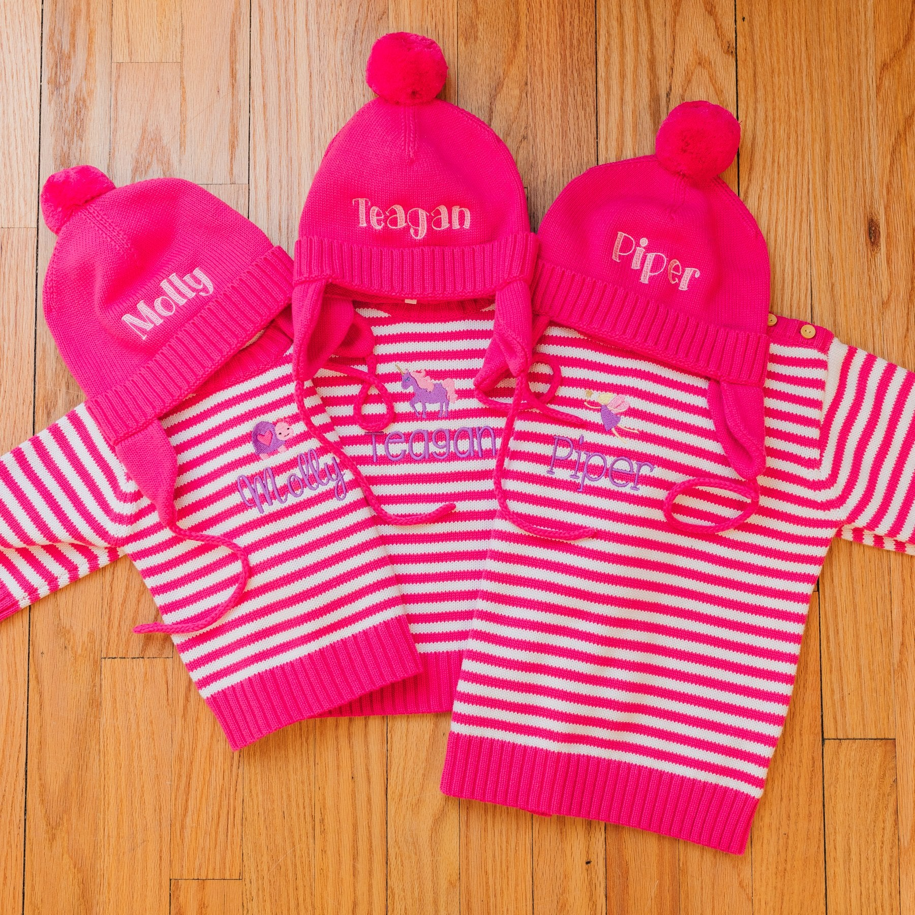 Little La La Striped Button Knit Sweater