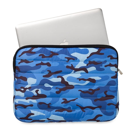 Blue Camo Laptop Sleeve