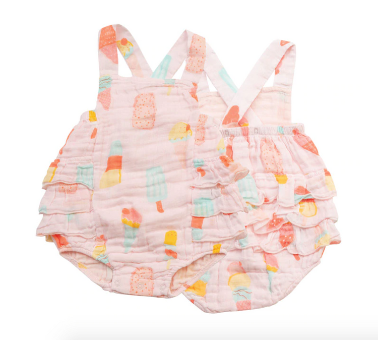 Cool Sweets Ruffle Sunsuit 0-3M