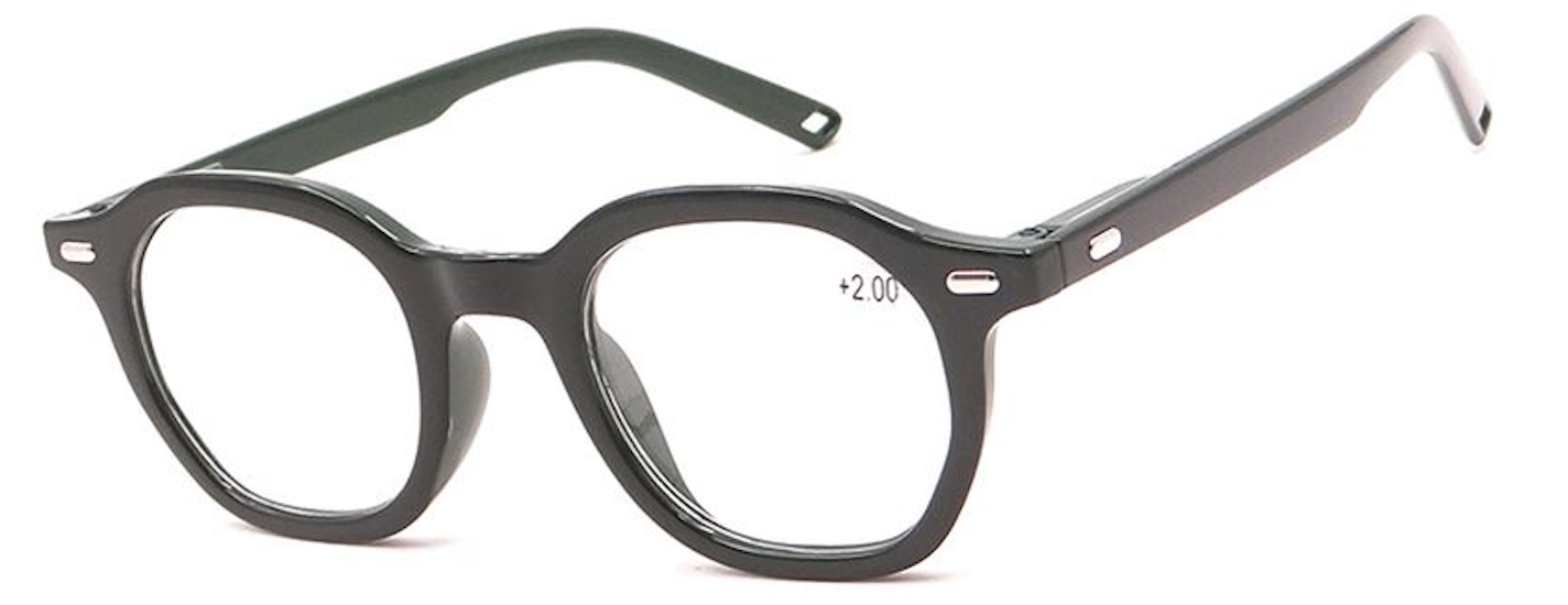 Silver Accent Thick Rim Readers