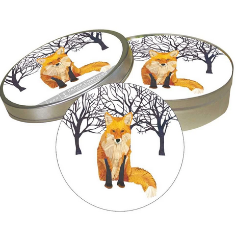 Winter Fox Coaster Set