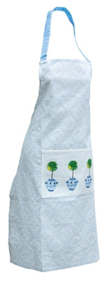 Blue Topiary Apron