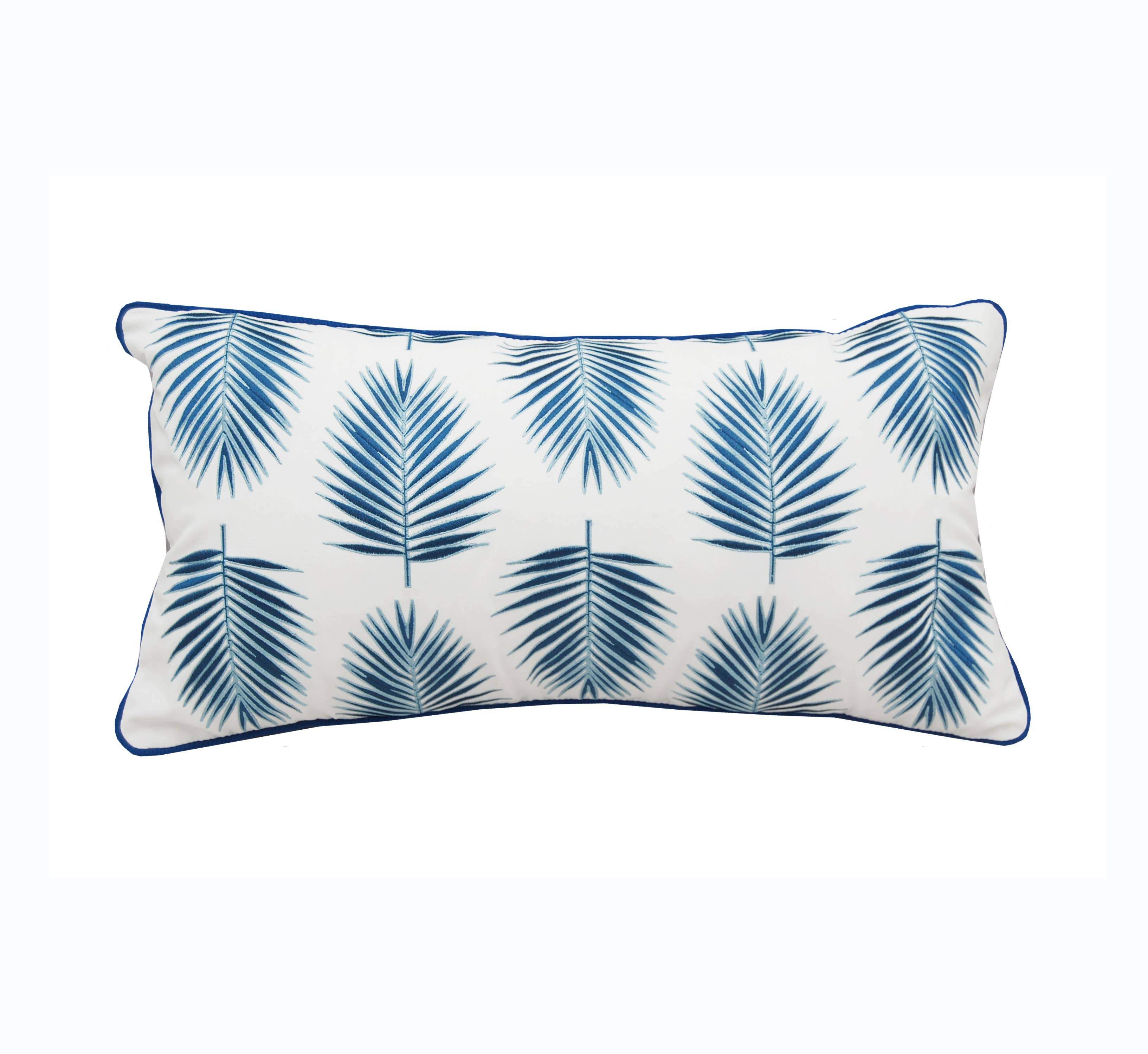 Palm Pattern Indoor/Outdoor Pillow