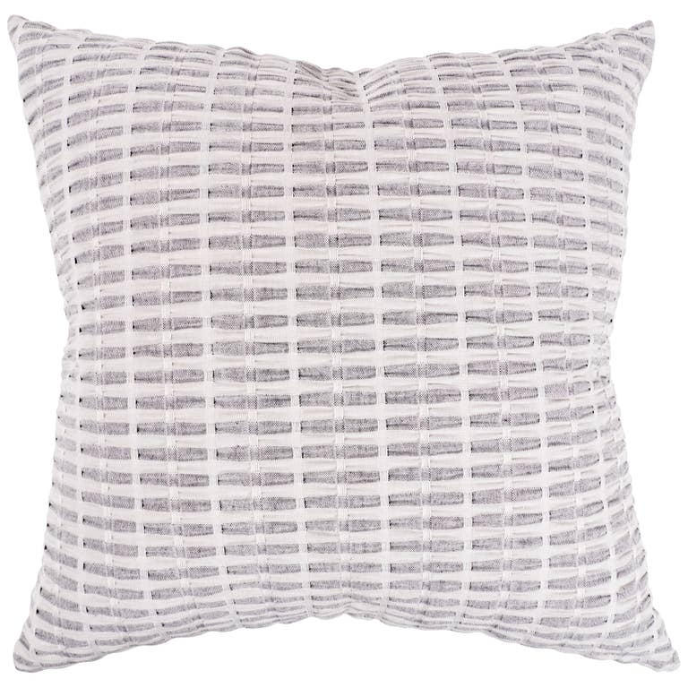 "Pleated Please Throw Pillow - Feather Filled 20""x20"""
