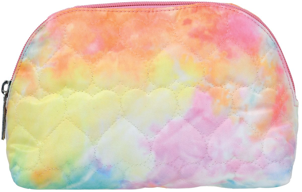 Cotton Candy Heart Oval Cosmetic Case