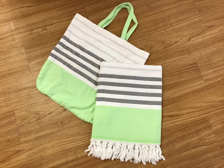 Neon Beach Towel and Bag