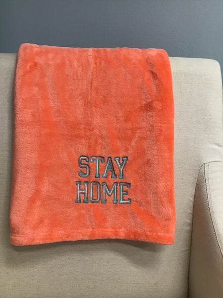 Stay home fleece blanket