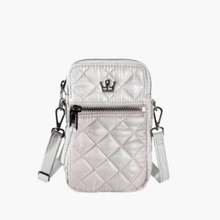 24 + 7 cellphone crossbody champagne