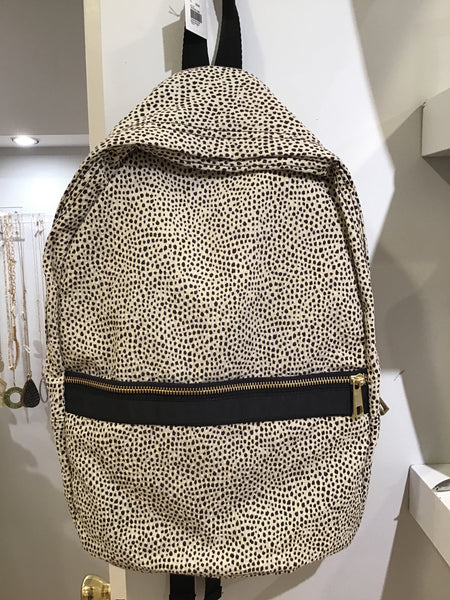 Cheetah Seersucker Medium Backpack