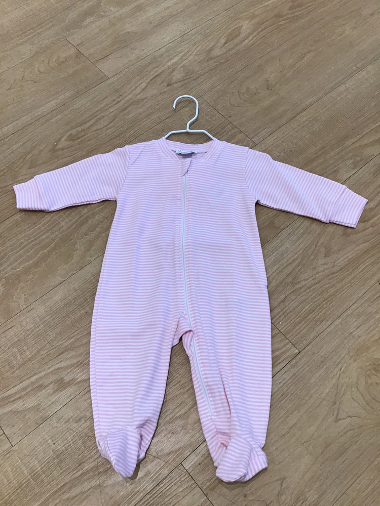 Stripes Footie w/ Zip 3-6 month