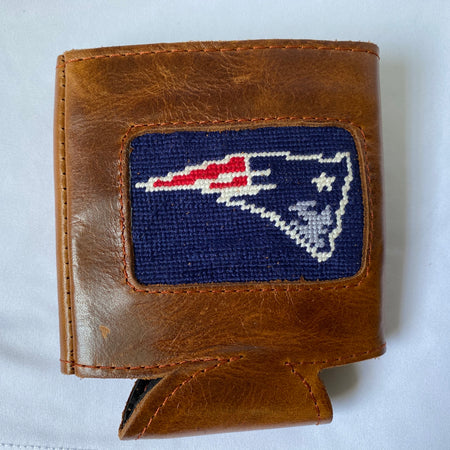 Leather Needlepoint Coozie