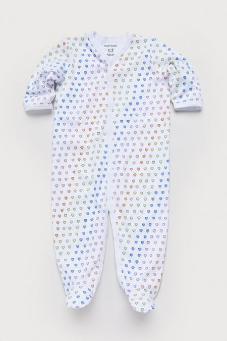 Infant Disco Hearts Footie Pajamas