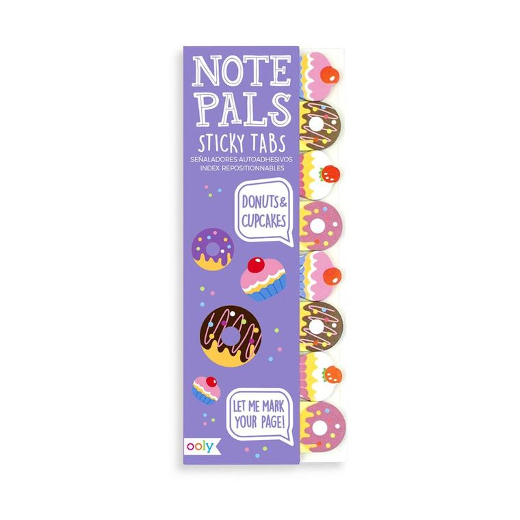 Note Pals Sticky Note Pad - Donuts & Cupcakes