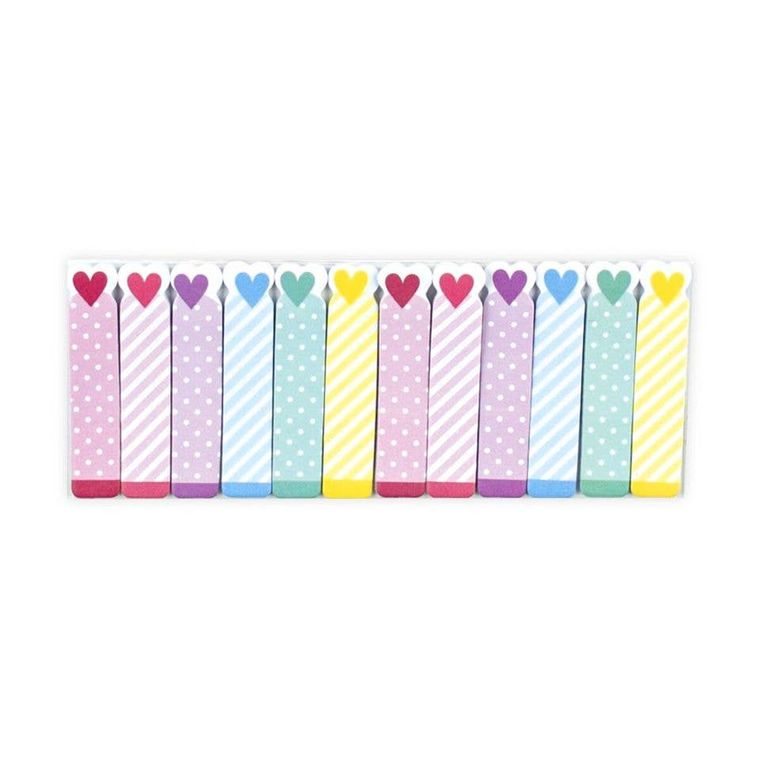 Note Pals Sticky Note Pad - Rainbow Hearts
