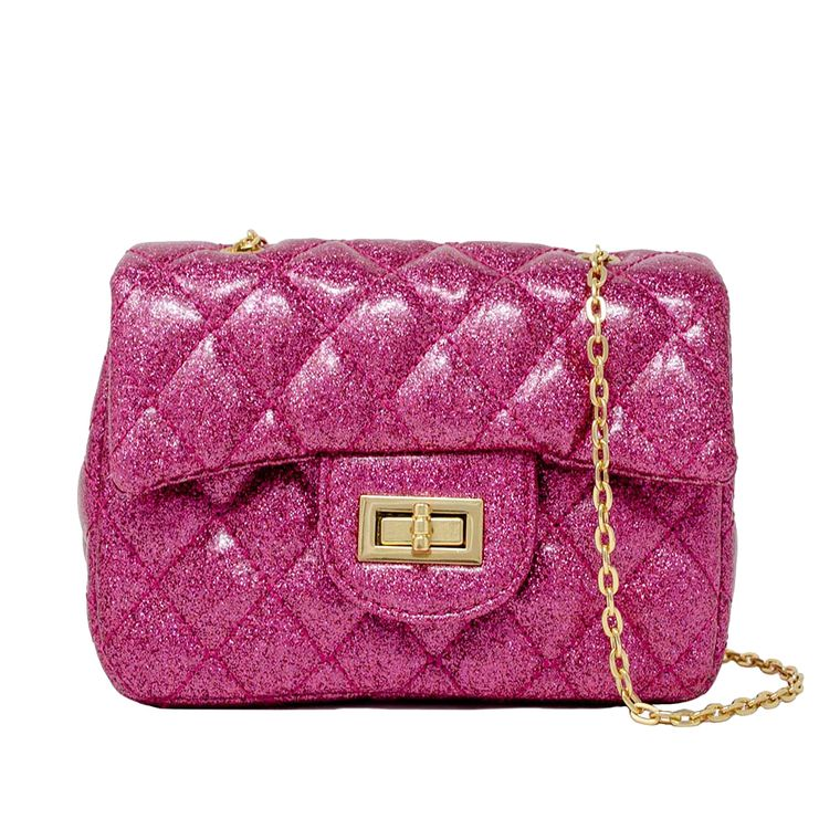 Classic Sparkle Mini Bag - Hot Pink