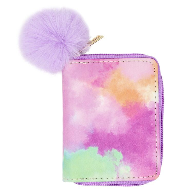Tie Dye Wallet- Purple