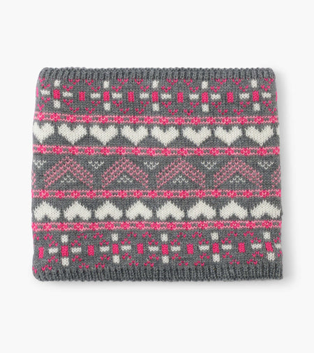 Winter Hearts Fleece Lined Neck Warmer