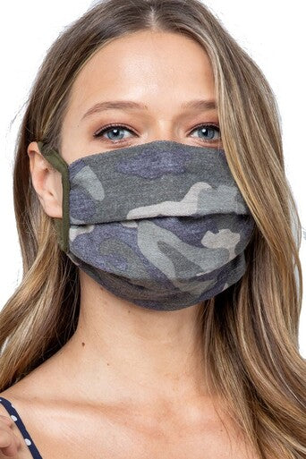 Cotton Camo Face Mask