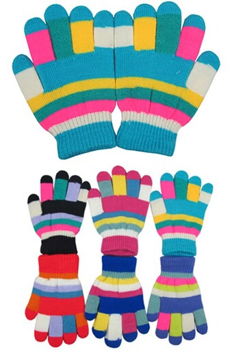 Multi Colored Kids Gloves in Assorted Colors