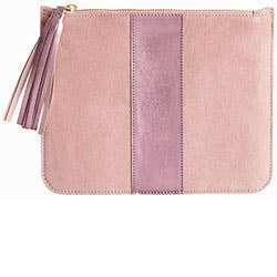 Pink Suede Pouch